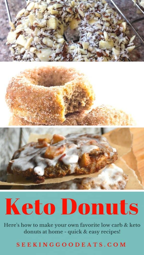 Low carb and keto donuts you can make at home. Quick and easy ketogenic donuts you can make this weekend.
