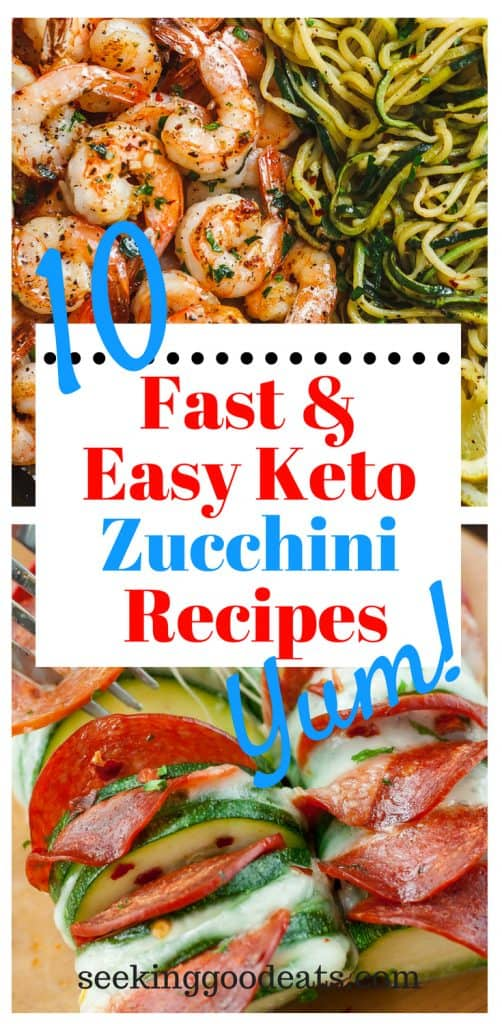 Fast and easy low carb and keto zucchini recipes and meal ideas. Zucchini is a great low carb option to pasta and other breads. Quick keto family meal ideas with zucchini make dinner a breeze.