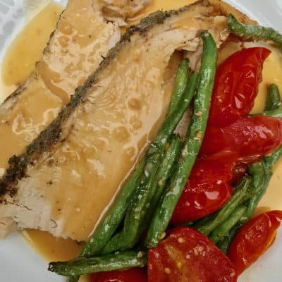 Tender Slow Cooker Tuscan Turkey Breast
