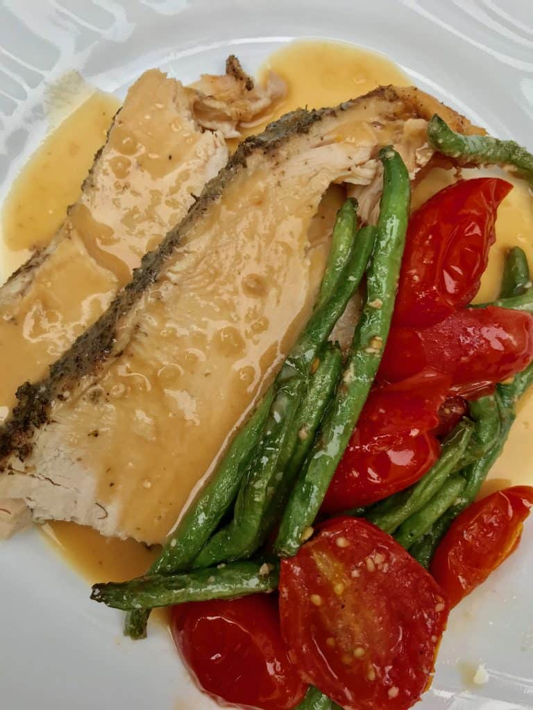Juicy Slow Cooker Tuscan Turkey Breast. So simple and easy to make!