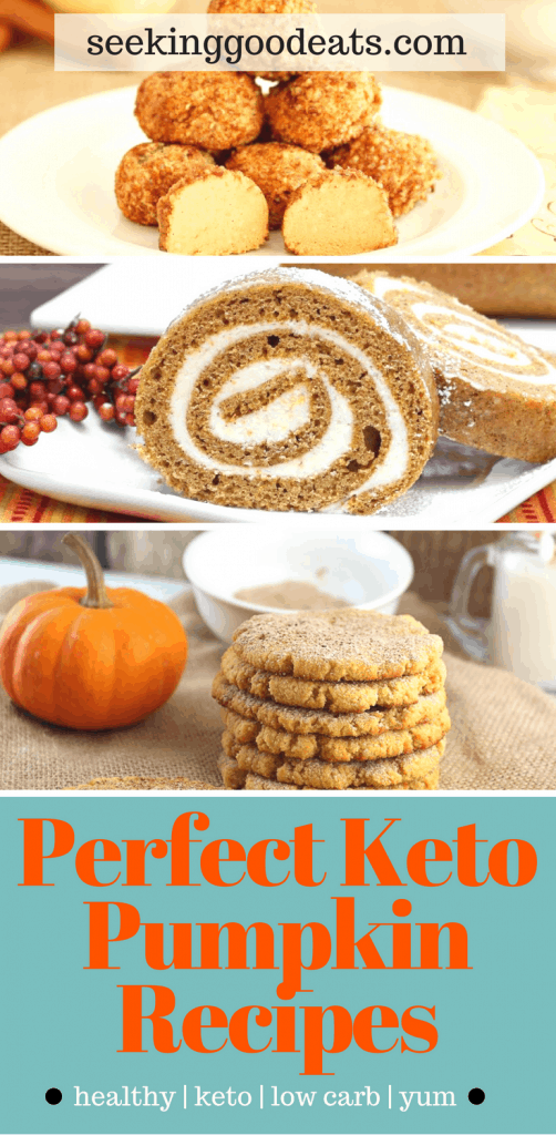 Perfect keto and low carb pumpkin recipes. Great year around but perfect for the Fall, Winter, and holidays