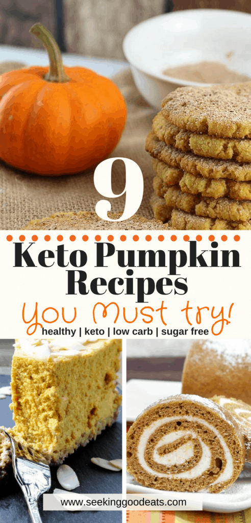10 keto pumpkin recipes that are all easy and healthy pumpkin recipes! These are so delicious you'll never know they're a part of the ketogenic diet or for those wanting healthy, low carb, sugar free pumpkin recipes!