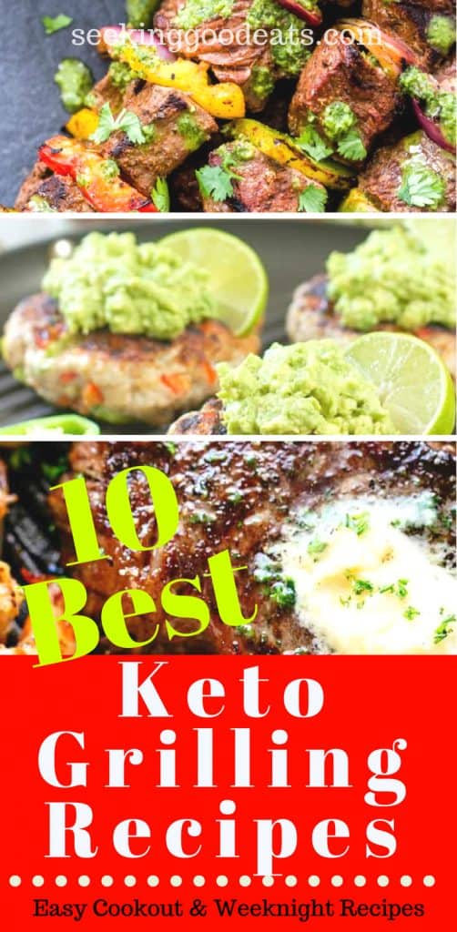 The best tasting low carb Keto grilling recipes. Grilled kebabs, seafood, steak, chicken, and pork recipes. Perfect grilling recipes for you next cookout or outdoor gathering. Quick and easy keto grilling recipes.