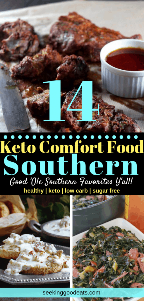You're favorite Southern classics but keto and low carb! How great is that? Here are 14 quick and easy Southern comfort food recipes that you're gonna love. Low carb and keto dinners you can make in no time! Try these classic recipes that you can you for everyday healthy meals. #dinner #healthyrecipes #healthyfood#lowcarb #lchf #keto #ketodiet#ketogenic #ketorecipes #salad#mealprep