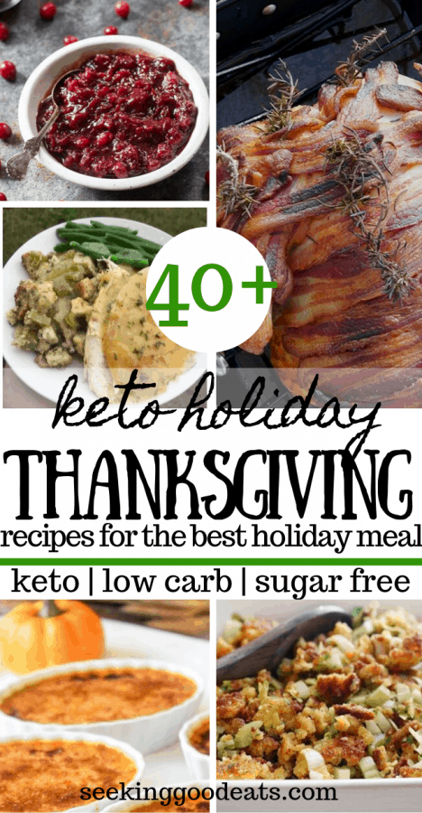 40+ Low Carb and Keto Thanksgiving Dinner Recipes