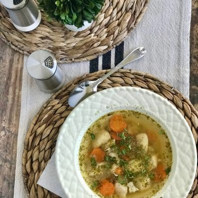 Instant Pot Low Carb and Keto Chicken Soup