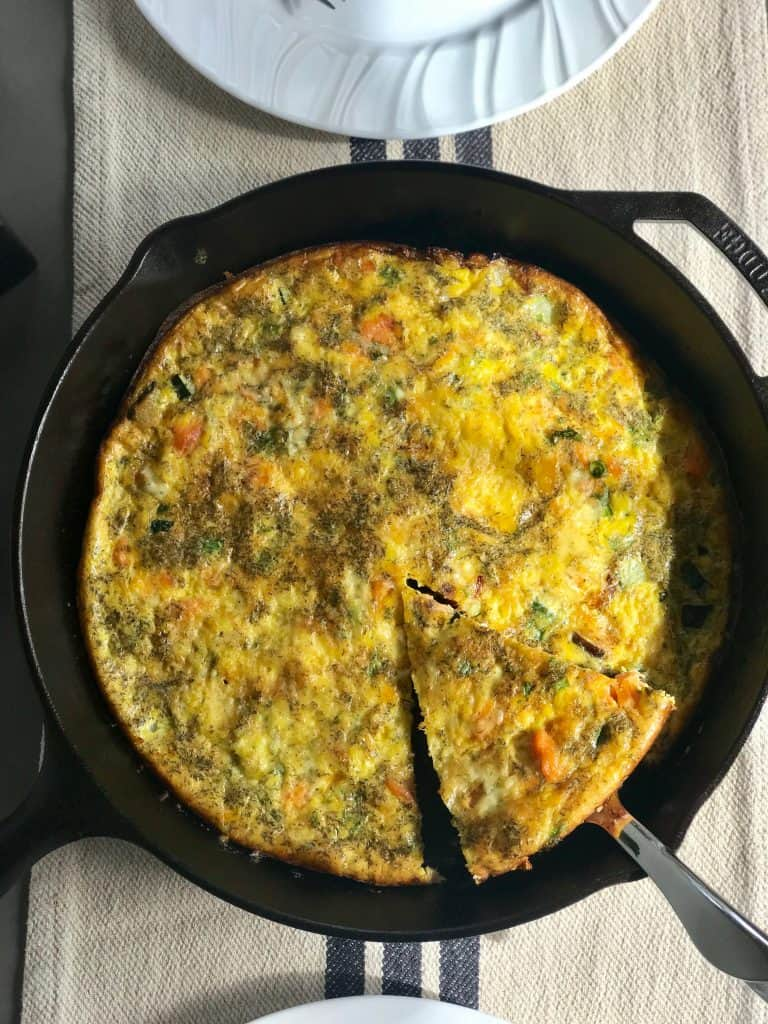 low carb smoked salmon frittata