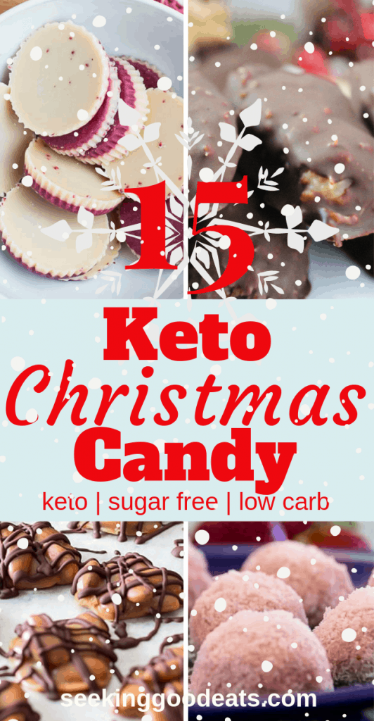 These 15 Keto Christmas recipes are the best low carb and keto candy! These sugar free candy recipes are tasty keto fat bombs and low carb desserts. You'll never know you're on a diet. Cure those sugar cravings with these delicious ketogenic holiday recipes.