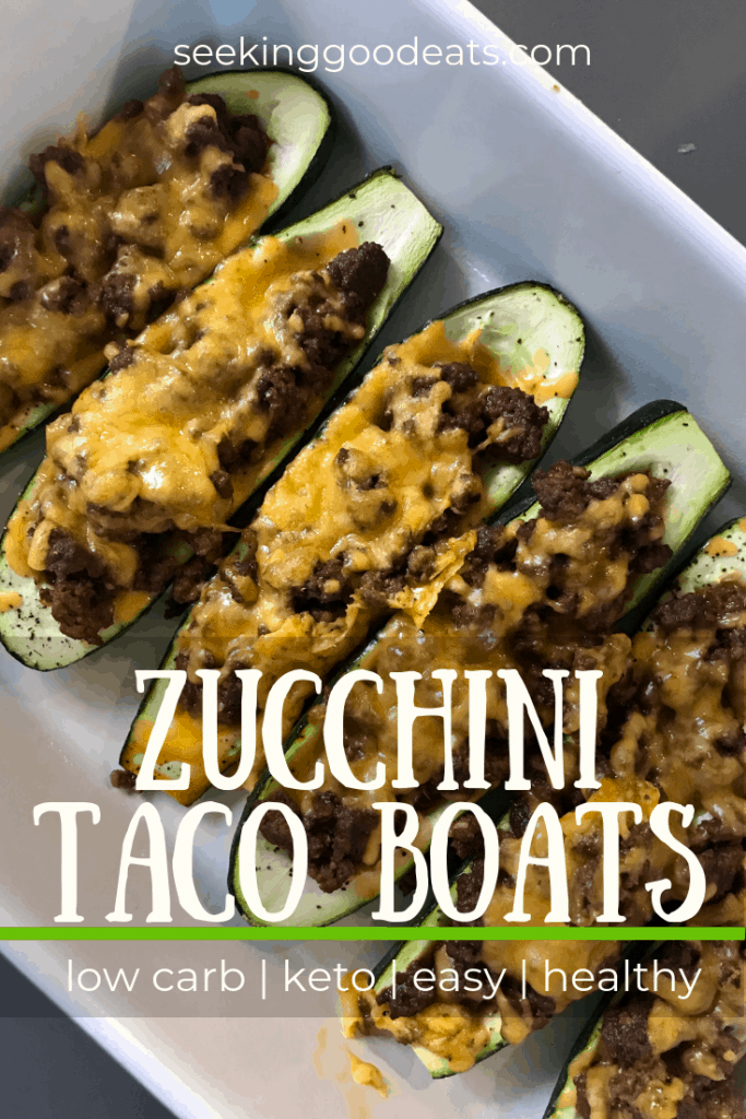 You will love this super easy healthy dinner recipe for zucchini taco boats. This low carb and keto recipe for zucchini taco boats is made delicious with flavorful baked zucchini, taco meat filling, and yummy melted cheese. Its a perfect quick weeknight meal that you can whip together in no time. A healthy recipe that tastes great! #keto #ketogenic #zucchini #vegetables #lowcarb #lchf #ketorecipes #healthyrecipes #dinner #mexican #tacotuesday #beef #easyrecipes