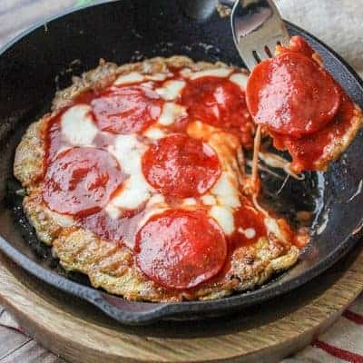 Low Carb Pepperoni Pizza (Egg Pizza Recipe)