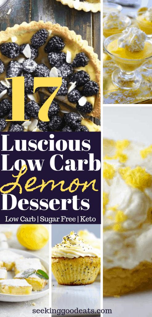Luscious Low Carb Lemon Recipes (Keto Lemon Desserts)