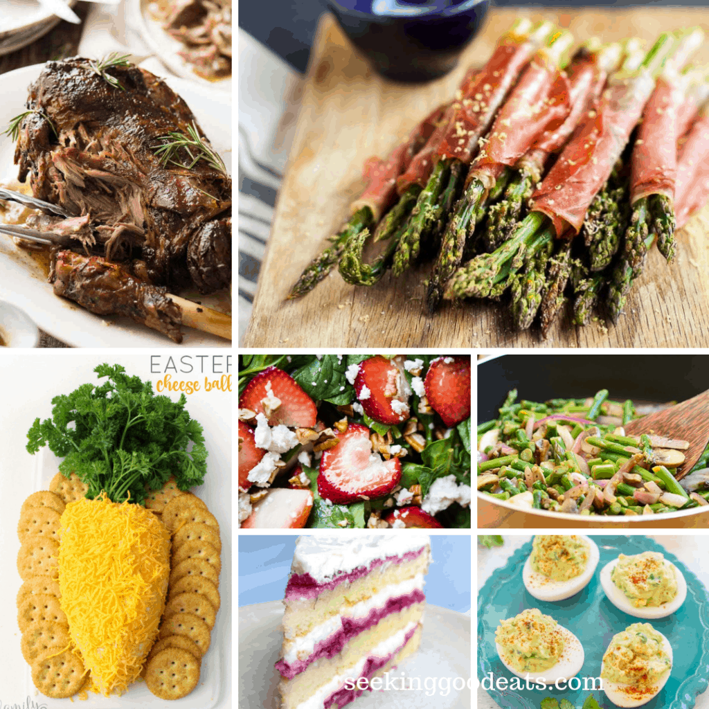 Perfect low carb recipes and menu ideas for an amazingly easy Easter dinner! Healthy recipes that taste great. A holiday menu that works for everyone even if they are not on a low carb, sugar free, or keto diet. #easter #holiday #lowcarb #healthydinner #keto #ketogenic #sugarfree #seekinggoodeats