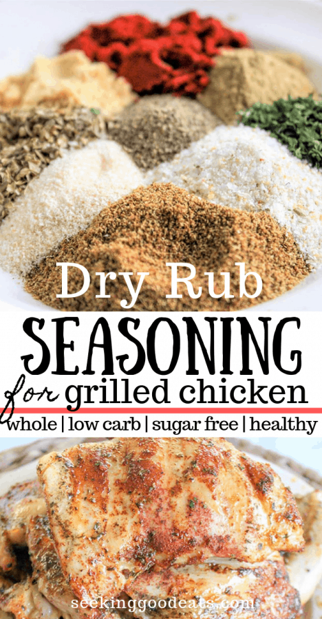 Dry rub seasoning pinnable Pinterest image
