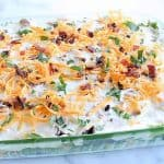 Layered Salad (Low Carb and Keto Layered Overnight Salad with Mayonnaise Recipe)