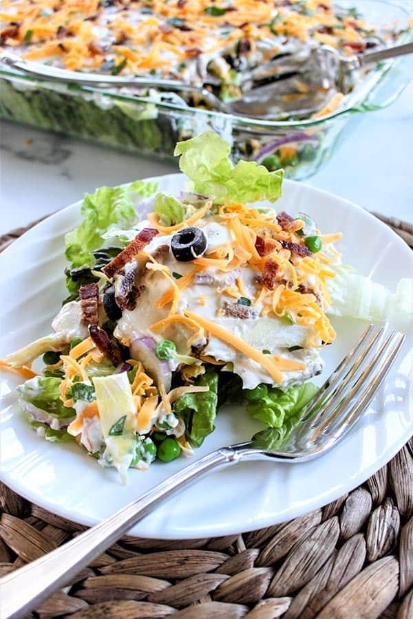 Layered Salad (Layered Overnight Salad with Mayonnaise Recipe)