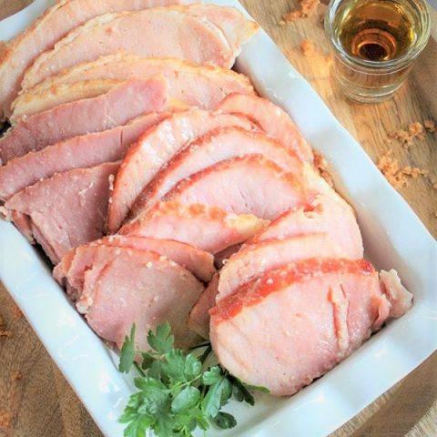 Easy Bourbon Brown Sugar Glazed Ham (Sugar Free)