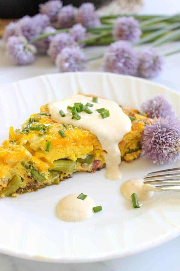 Easy Eggs Benedict Frittata With Hollandaise (Keto Eggs Benedict)