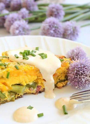 Easy Eggs Benedict Frittata With Hollandaise (Keto Eggs Benedict)