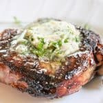 Herbed Butter Steak (Simple Steak Recipe Grilled With Garlic Herb Compound Butter)