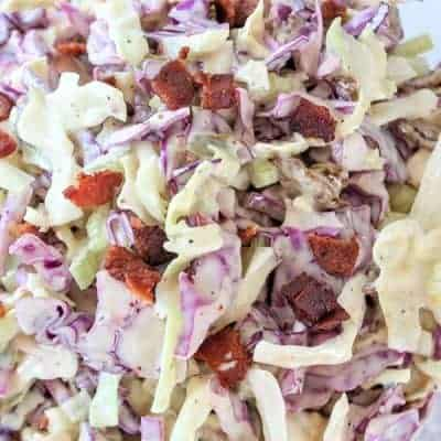 Low Carb Coleslaw (Dill Pickle Slaw)