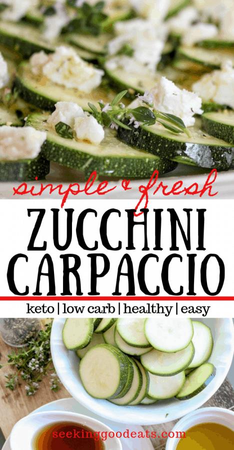 Keto Zucchini Recipe - Zucchini Carpaccio