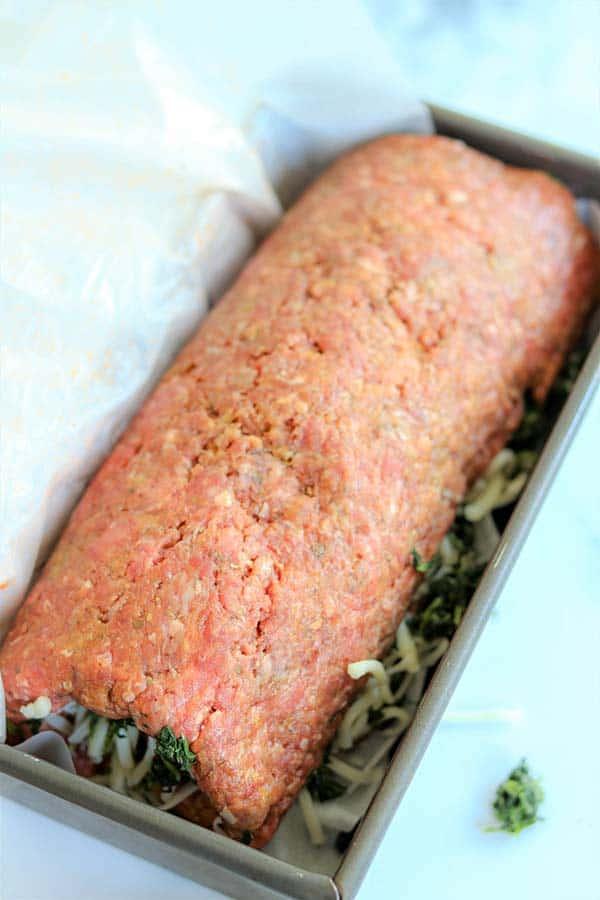 Stuffed Italian Meatloaf Recipe | Keto Meatloaf