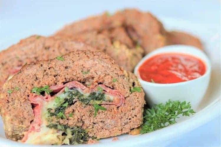 Stuffed Italian Meatloaf Recipe   Keto Meatloaf