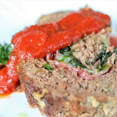 Stuffed Italian Meatloaf Recipe | Keto Meatloaf