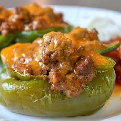 Taco Stuffed Bell Peppers (Keto Stuffed Peppers)