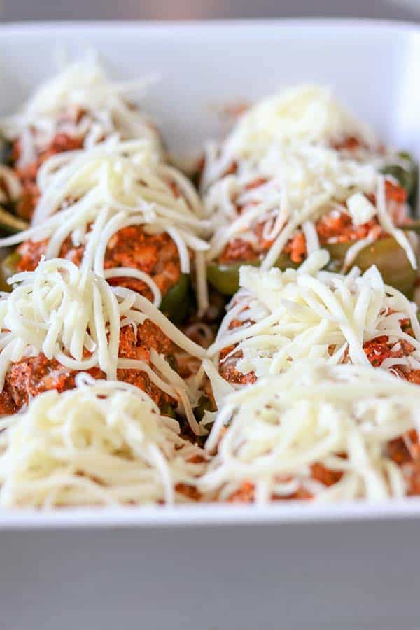 Lasagna Stuffed Peppers (Keto Stuffed Peppers)