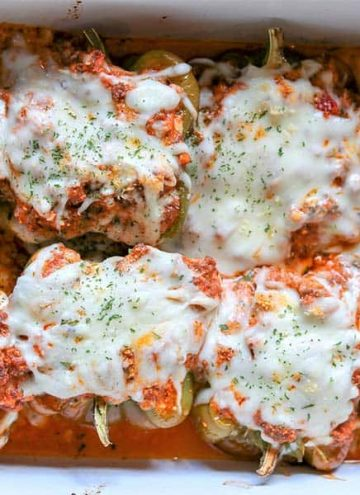 Lasagna Stuffed Peppers (Keto Stuffed Peppers)