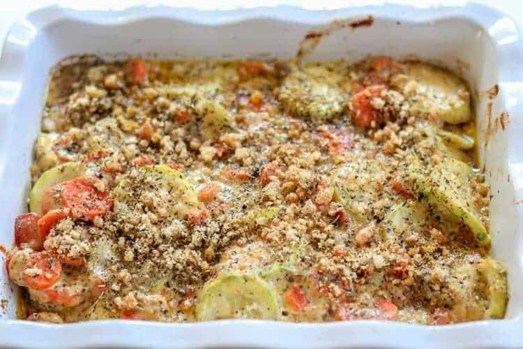 Baked Zucchini Casserole With Cheese