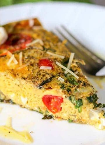 Tomato and Mozzarella Caprese Frittata