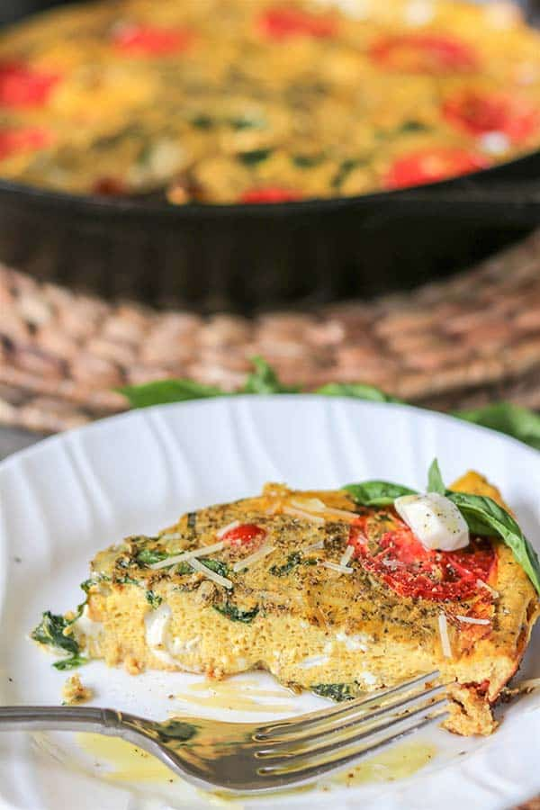 Tomato and Mozzarella Caprese Frittata