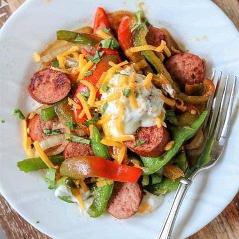 Cajun Sausage and Peppers Recipe (Keto Sausage Recipe)