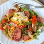 Cajun Sausage and Peppers Recipe (Keto Sausage Recipe)