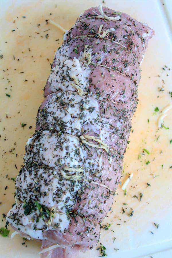 Cordon Bleu Stuffed Pork Loin