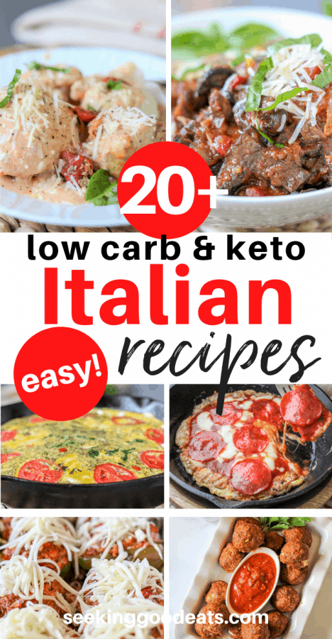 Italian Recipes (Top 10 Italian Dishes Low Carb and Keto)