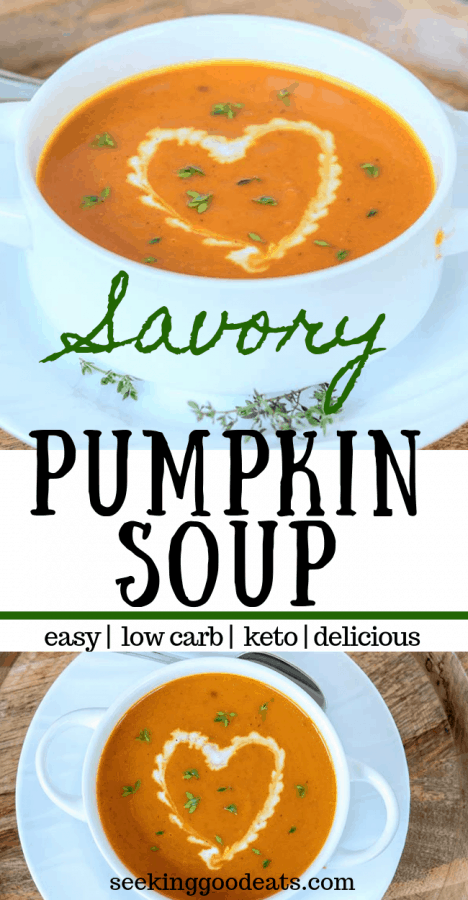 Easy Pumpkin Soup Recipe (Low Carb and Keto Pumpkin Soup)