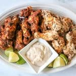 Keto Chicken Wings With White BBQ Sauce (Dry Rub Chicken Wings)