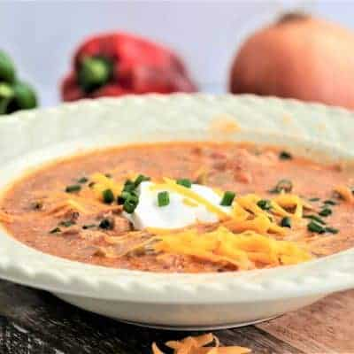 Crockpot Chicken Fajita Soup (Low Carb and Keto Soup Recipe)