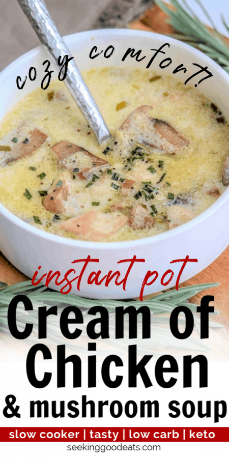 Crockpot Cream of Chicken and Mushroom Soup (Keto Soup Slow Cooker)
