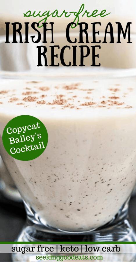 Irish Cream Recipe (Sugar Free Keto Cocktail)