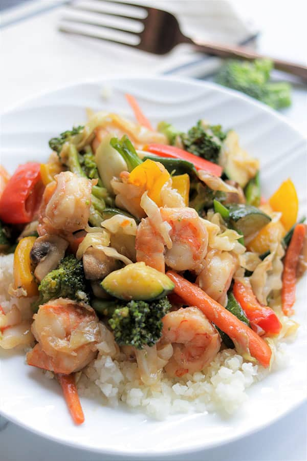 Keto Stir Fry With Shrimp