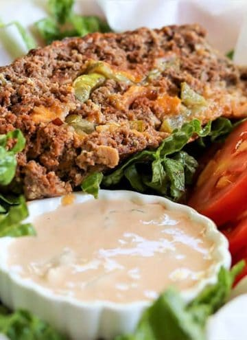 """Stuffed Meatloaf Recipe With Cheese And Bacon (""""Big Mac"""" Meatloaf)"""