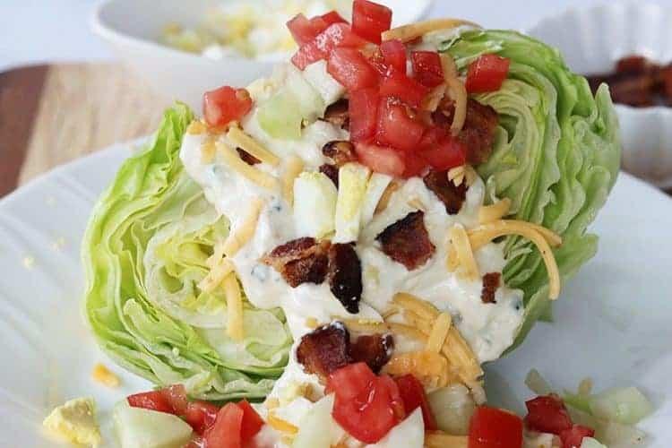 Blue Cheese Wedge Salad Recipe (Keto Salad)