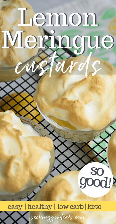 Lemon Meringue Custard Pies
