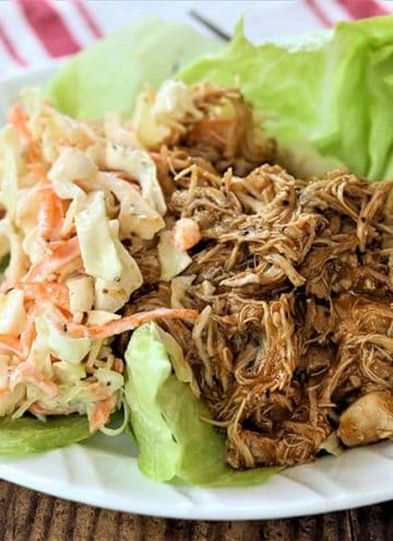 Quick and Easy Pulled Chicken (Crock Pot)