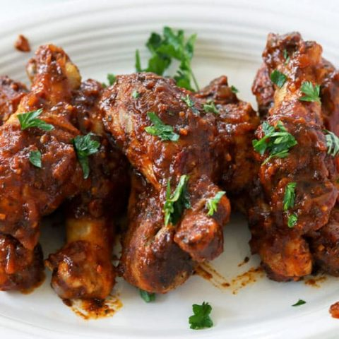 Baked BBQ Chicken Drumsticks (Low Carb, Keto, Sugar-Free)