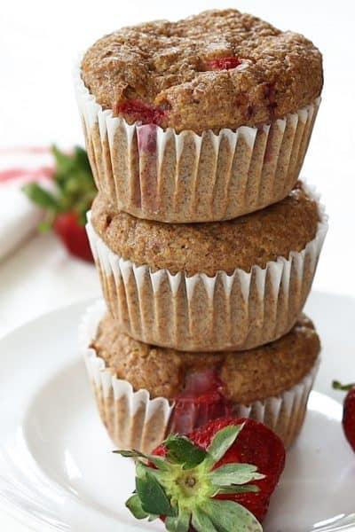 Strawberry Banana Flaxseed Muffins (Low Carb Keto Sugar Free)